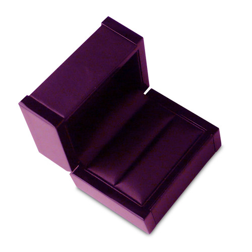 4805 Series High Quality Lacquered Wood & Integrity Double Ring Box