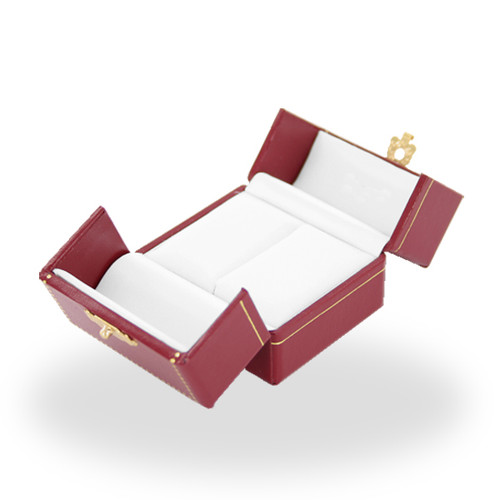 703 High Quality Leatherette 2 Doors High Ring Box
