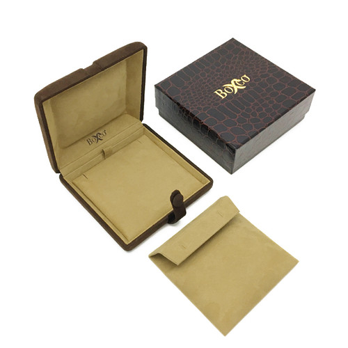 7608 Series High Quality Charisma Suede Earring and Pendant Box