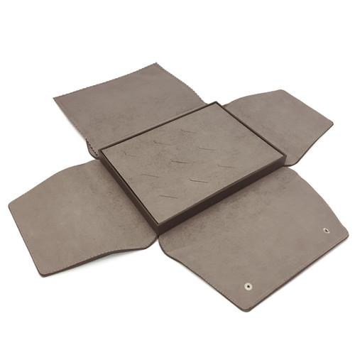 LSDFL-R12 Custom High Quality Leather & Charisma Suede Multi Ring Display Folder