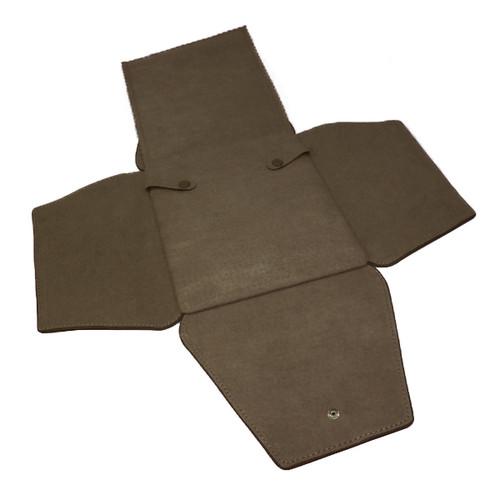 LSFL18 Custom High Quality Leather & Charisma Suede Medium Necklace Folder