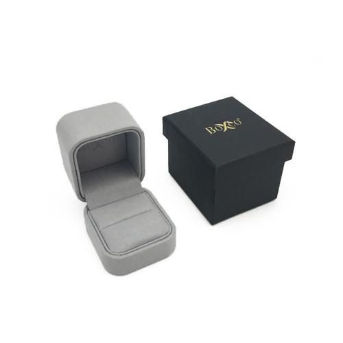 1800 Custom High Quality Charisma Suede Ring Box