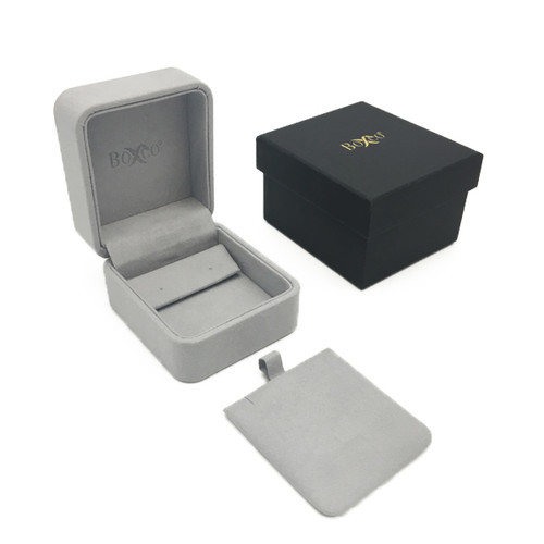 1810 Custom High Quality Charisma Suede Earring and Pendant Box