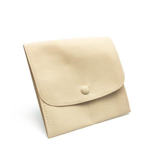 LLRP5 High Quality Faux Leather Button Pouches