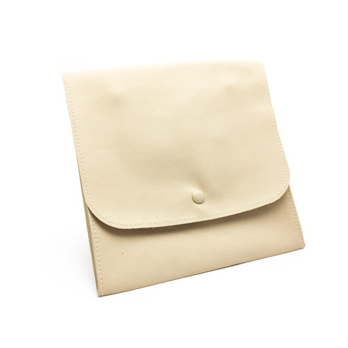LLRP8 High Quality Faux Leather Button Pouches