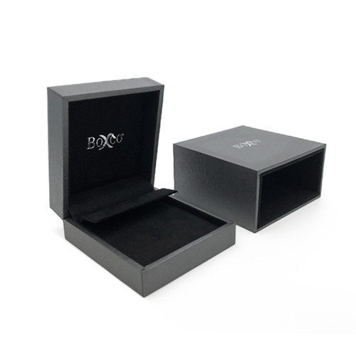 5309 High Quality China Suede and Leatherette Earring and Pendant Box