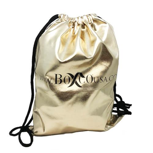Drawstring Design Metallic PU Backpack