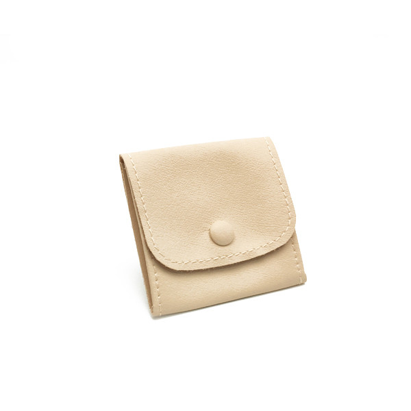 LLRP1 High Quality Faux Leather Button Pouches