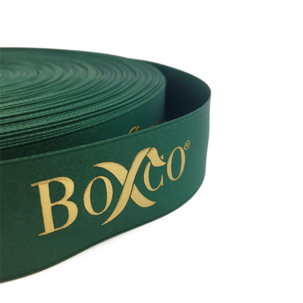 Polyester Double Faced Satin Ribbon with Raised Screen Printing