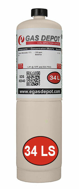34 Liter-Isobutylene 100 ppm/ Air