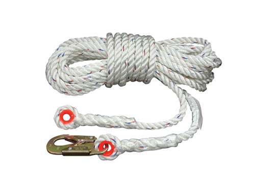 CP+ Lifeline 100' Zsnap hook  and Thimble Eye