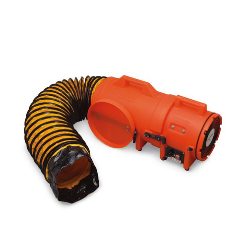 """8"""" Axial AC Plastic Blower w/ Compact Canister & 25' Ducting"""