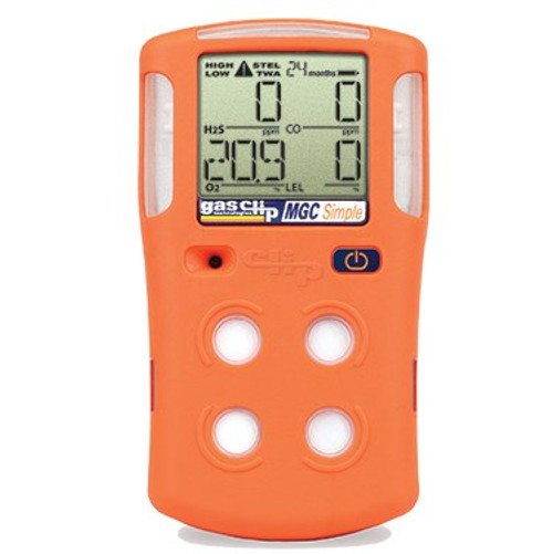 Multi Gas Clip Simple gas detector H2S, CO, O2, LEL (MGC-S)