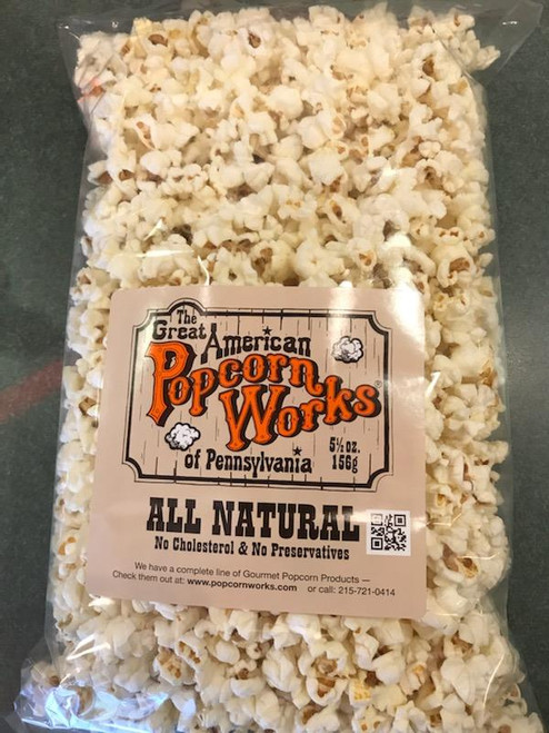 5.5oz bag of All Natural Popcorn - With-out Salt
