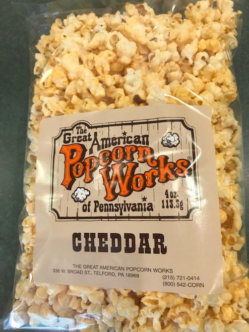 4oz bag of Gourmet Cheddar Popcorn