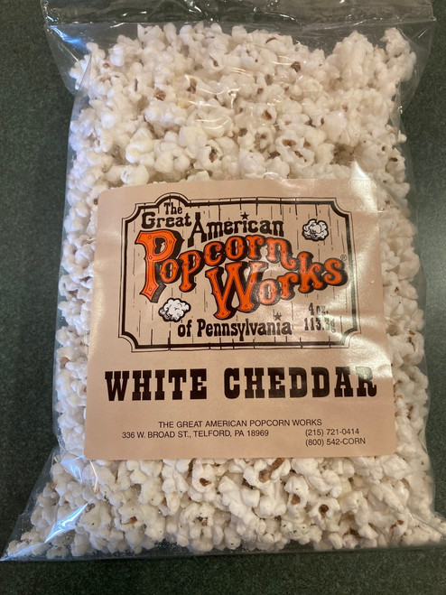 4oz bag of Gourmet White Cheddar Popcorn
