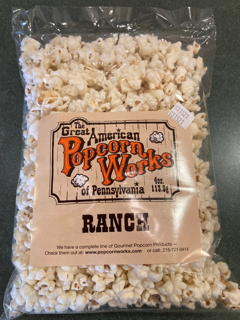 4oz bag of Gourmet Ranch Popcorn