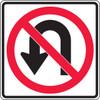 MR34RA No U Turn Sign