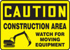 Caution - Construction Area Watch For Moving Equipment
