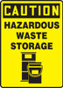 Caution - Hazardous Waste Storage (W/Graphic) - Dura-Fiberglass - 14'' X 10''