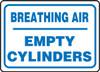 Breathing Air Empty Cylinders - Plastic - 10'' X 14''