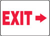 (Arrow Right) Exit - Adhesive Dura-Vinyl - 7'' X 10''