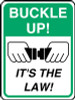 """Buckle Up! It's the Law! Sign- 24"""" x 18"""""""