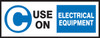 "C Use On Electrical Equipment Label- Fire Extinguisher Class Label- 2"" X 5"""
