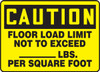 Caution - Floor Load Limit Not To Exceed ___ Lbs. Per Square Foot