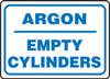 Argon Empty Cylinders - Plastic - 10'' X 14''