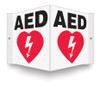 "AED Sign- 90D- 8"" x 8"" panel"