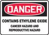 Caution - Contains Ethylene Oxide Cancer Hazard And Reproductive Hazard