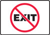 (No Symbol) Exit - Accu-Shield - 7'' X 10''