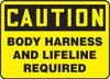 Caution - Body Harness And Lifeline Required - Aluma-Lite - 10'' X 14''