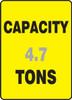 Capacity ___ Tons ___ - Adhesive Dura-Vinyl - 14'' X 10''