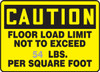 Caution - Floor Load Limit Not To Exceed ___ Lbs. Per Square Foot- Semi Custom