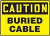 Caution - Buried Cable - Adhesive Dura-Vinyl - 10'' X 14''