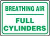Breathing Air Full Cylinders - Plastic - 10'' X 14''