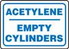 Acetylene Empty Cylinders - .040 Aluminum - 10'' X 14''