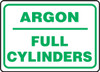 Argon Full Cylinders - Plastic - 10'' X 14''