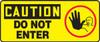 Caution - Do Not Ener (W/Graphic) - Plastic - 7'' X 17''