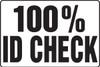 100% ID Check Sign MADM934VA