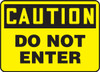 Caution - Do Not Enter - Adhesive Vinyl - 7'' X 10''