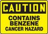 Caution - Contains Benzene Cancer Hazard