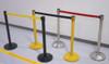 Blockage Retractable Belt Tape Barriers- Yellow Post and Black Belt Tape (indoor)