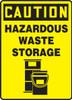 Caution - Hazardous Waste Storage (W/Graphic) - Plastic - 14'' X 10''