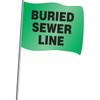 Buried Sewer Line Marking Flag