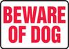 Beware Of Dog - Aluma-Lite - 10'' X 14''
