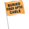 Buried Fiber Optic Cable Marking Flag- 100 pack
