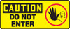 Caution - Do Not Ener (W/Graphic) - .040 Aluminum - 7'' X 17''